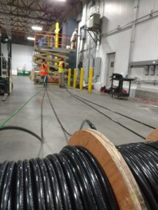 Wire Pull Installation Of A 800 Amp Stand Up Section Equipment by RAndCContracting-com 562-860-3430