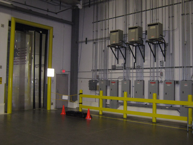 Commercial Electric Wires Installed Electrical Construction